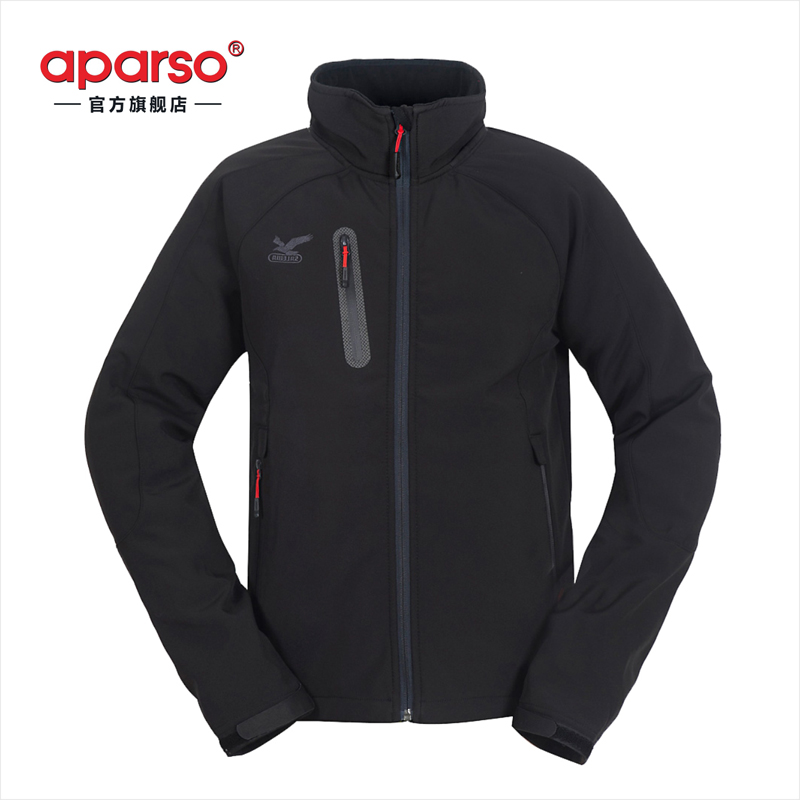 New outdoor autumn and winter men's soft shell waterproof soft elastic charge clothing windproof and warm jacket package
