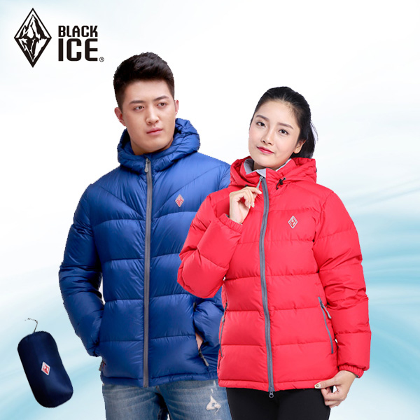 F8902 black ice duck down jacket men and women couple models outdoor hooded ski warm jacket F8951 can be accommodated