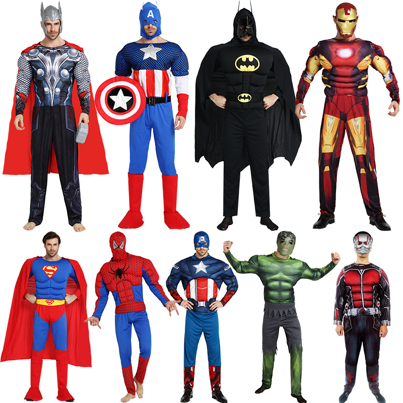 Adult Spider-Man Clothing Superman Iron Man Ray Batman Captain Avenger Alliance Costume