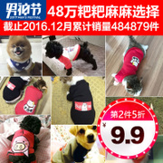 Small pet dog clothes in autumn and winter, spring and summer spring Teddy VIP four small puppy cat bear clothing