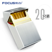 The focus of individual cigarette package creative ultra-thin clamshell cigarette pack 20 man portable anti pressure plastic metal cigarette case