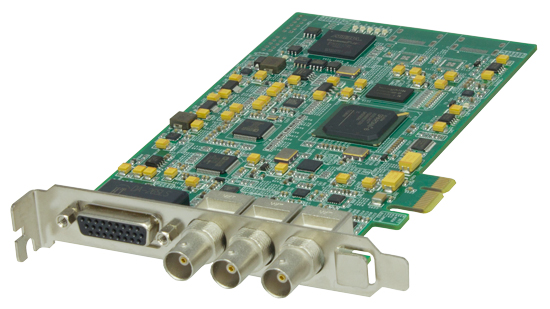 By6000 HD broadcast card HD-SDI and component I / O with broadcast software
