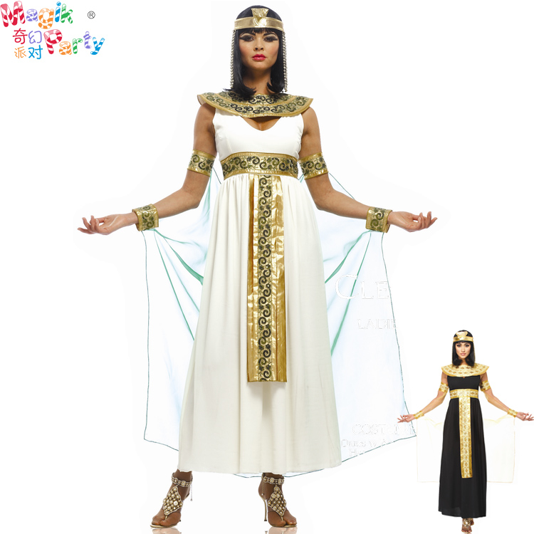 [The goods stop production and no stock]Cosplay Clothes,Halloween Clothes,Halloween Adult Costume Cosplay Performance Clothes Female Ancient Egypt Indian Queens Dress