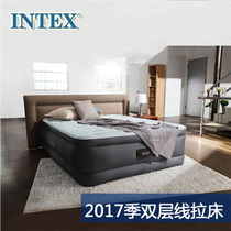 Original authentic INTEX luxury double inflatable bed bunk inflatable mattress line pull air cushion bed thickening
