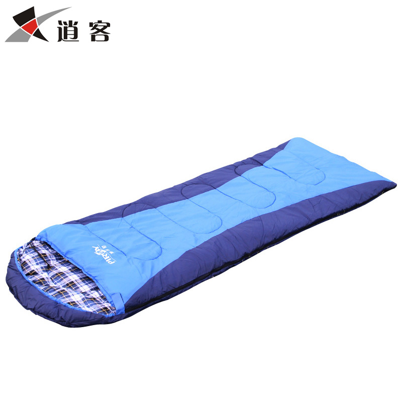 Adult Outdoor Ultra-light Sleeping Bag Thickened and Stitchable Flannel Hollow Cotton