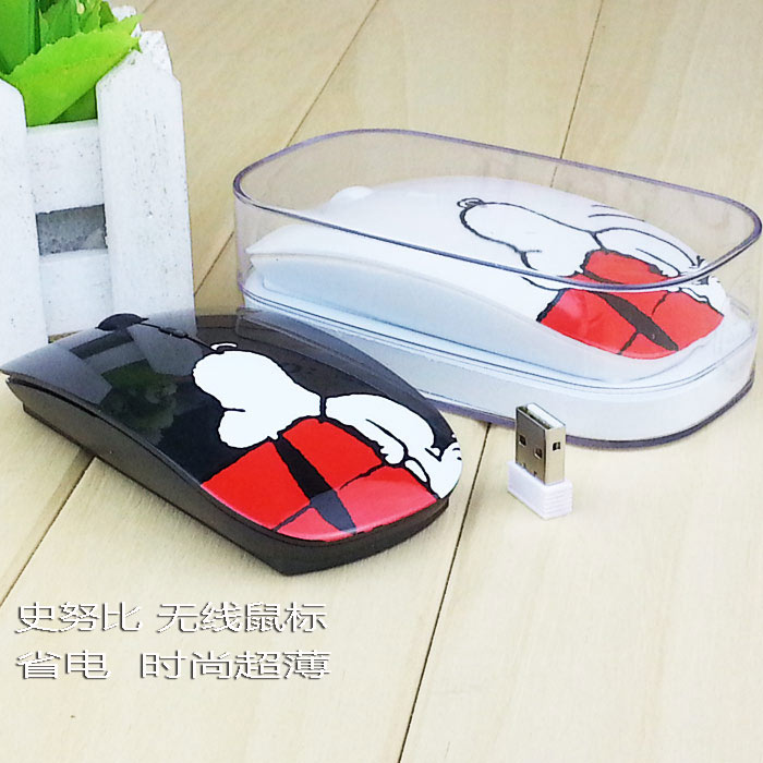 Laptop Cartoon Silence Wireless Mouse Office Household Portable Charging Mouse Desktop Girl Cute Snoopy
