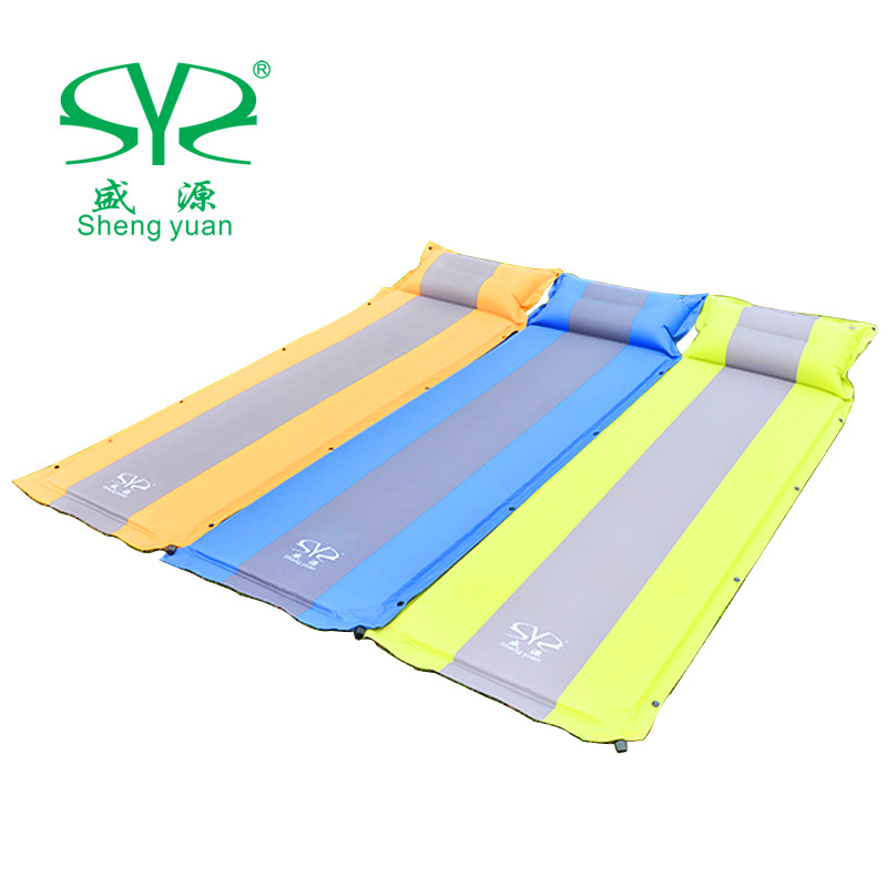 [The goods stop production and no stock]Shengyuan Outdoor Camping Equipment Automatic Inflatable Mat Single Double Floor Mat Modable Moisture Sleeping Mat