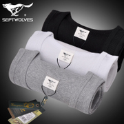 Septwolves slim youth cotton vest men tight sleeveless loose T-shirt bottoming winter sport breathable