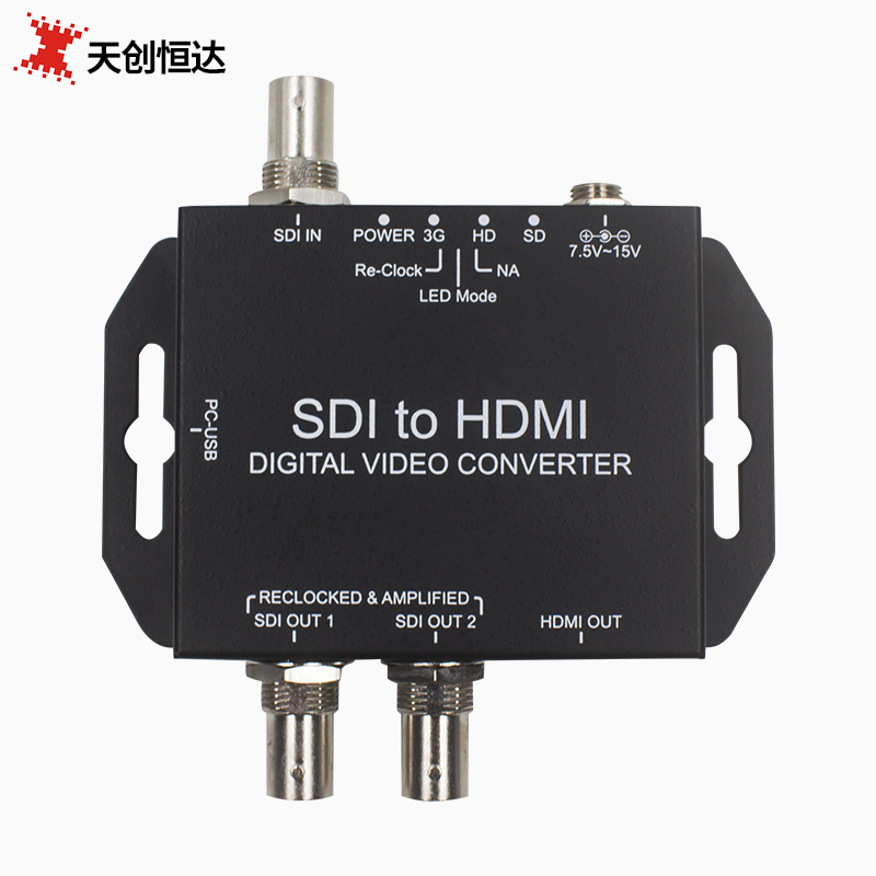 Tianchuang Hengda sdi to hdmi HD Converter SDI to HDMI sdi into 2 way sdi out