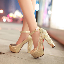 Female white wedding shoe leather shoes