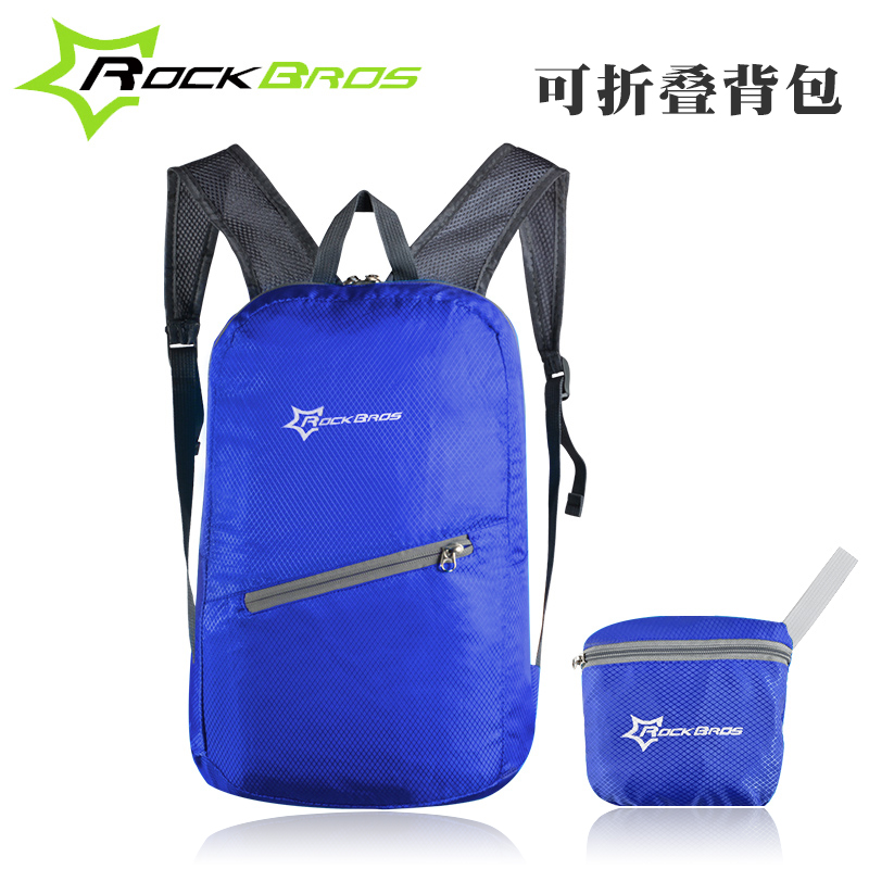 Rock brothers portable backpack shoulder bag riding folding bag outdoor sports men and women bicycle bag bicycle equipment