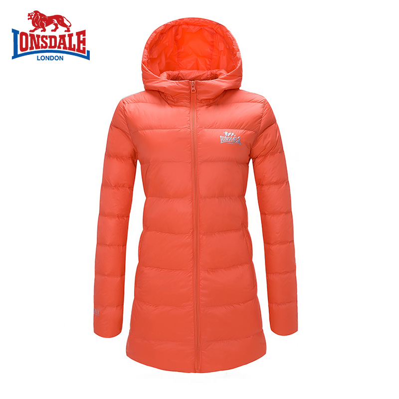 Dragon Lion 2016 autumn winter new style lightweight down jacket female middle length hat Lian slim slim 232321544