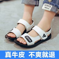 Shoes Sandals leather boys in summer 2017 new primary school children in childrens shoes boys leather sandals