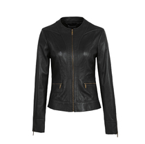 Factory direct for spring and autumn new exquisite t leather leather ladies slim sheep skin leather jackets coats