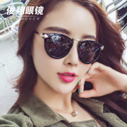 Sunglasses, women's 2017, New South Korean star models, polarizing nets, Red Sunglasses, round faces, long personalities, nearsighted eyes