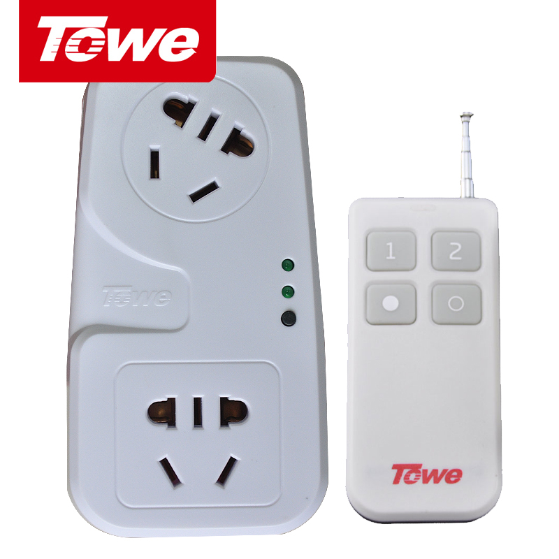 TOWE is the same remote control socket 220V wireless two-way household high-power remote control switching power supply socket can penetrate the wall
