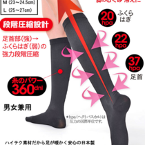 Japan Made in Japan Professional stage pressure skinny leg socks eliminate puffiness cold resistant socks for both sexes