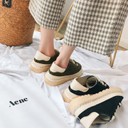 Spring summer department head doll shoes retro literary small fresh female flat casual shoes, soft soled shoes