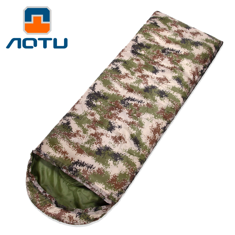 [The goods stop production and no stock]Bump digital camouflage envelope sleeping bag widening thick windproof warm winter men's new cotton sleeping bag AT6117