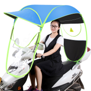 Electric bicycle canopy roof sunshade summer sun battery windshield rain transparent umbrella of bicycle