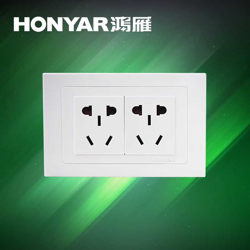 Swan goose switch socket K118 series two-position socket 10-hole 6-hole wall power supply socket two-five-hole socket