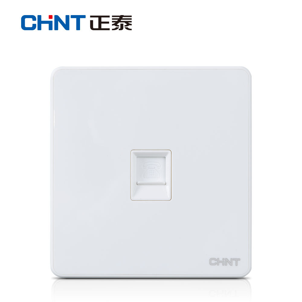 Zhengtai 86 switch socket 6T white three-open single-control switch large panel household concealed 3-open single-control frameless