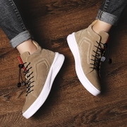 High shoes shoes autumn shoes casual shoes trend of Korean Gobon increased in winter with warm cotton velvet