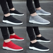 The summer male trend of Korean men shoes, canvas shoes low shoes men's casual shoes pedal lazy shoes
