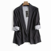 The spring of 17 new women's commuter all-match shawl collar sleeve leisure suit jacket 8996