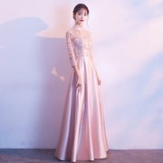 2017 new Korean sisters bridesmaid dresses evening dresses with long sleeved skirt bestie female elegant Princess long winter