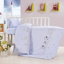 Cotton yarn-dyed kindergarten children were babies three piece baby pure quilt cotton quilt cover set of six core