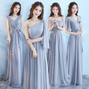 Bridesmaid Dresses long autumn 2017 new bridesmaids sister dress bridesmaid dress evening dress wedding dress female
