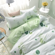 The student dormitory of three sets of single bed linen quilt 1.8m lovely princess wind set of four pieces of bedding in summer