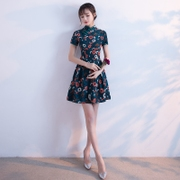 Cheongsam spring section of the 2017 new girls fashion style of Chinese literature and art students to improve the daily dress short summer