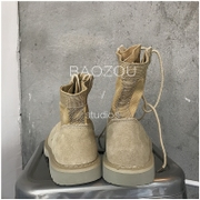 Take a couple of all-match bulldozers Retro High tooling shoes hip-hop male Martin boots female nubuck leather boots