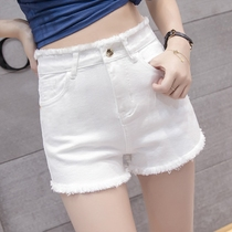 chic high waist denim shorts female summer 2018 new Korean version of loose students wild thin stretch wide leg hot pants