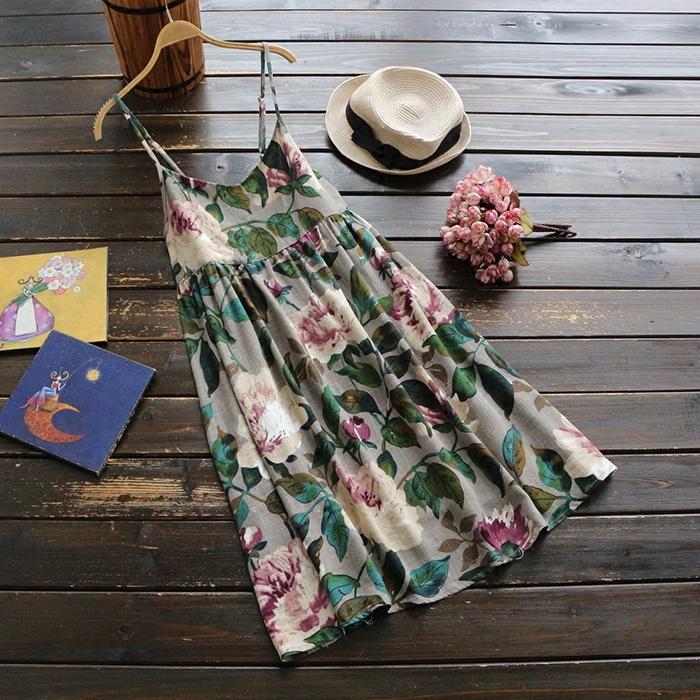 Đầm, họa tiết dễ thương, chất liệu cotton thoáng mát
