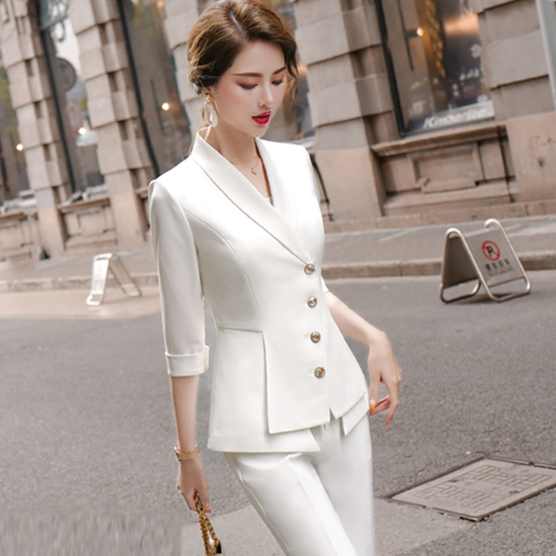 White little suit goddess 2020 new fashion style Korean version