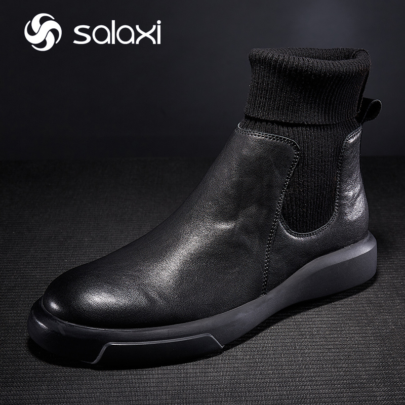 Winter Boots Genuine Leather Men's Martin Boots Men's Workwear Boots