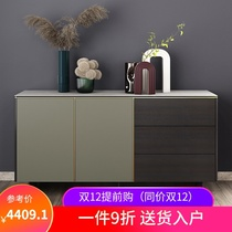 Guangdong three-year-old shop to ensure that the cabinet slate side cabinet Italian minimalist 1.6 meters ultra-thin edge small household smoke