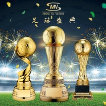 High-end football trophy custom Football trophy Golden Ball Trophy Creative trophy Personality trophy production