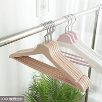The non-traceable non-slip hanger plastic clothing braces are simple wide-shouldered clothes racks for sundring