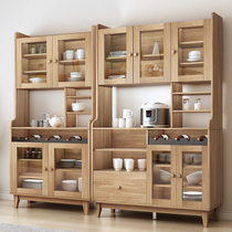 Nordic solid wood side cabinet two-door living room dining room combination tea cabinet wine cabinet