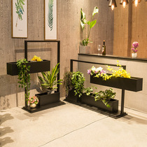 Outdoor flower slot office separates the commercial street flower rack sales office flower box long